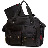 Fisher Price Fastfinder Deluxe Diaper Bag - Black Messenger by Fisher-Price