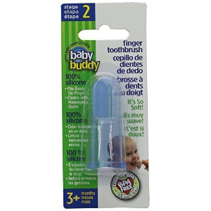 Baby Buddy Finger Toothbrush Stage 2 for Babies/Toddlers, Kids Love Them, Blue by Baby Buddy