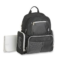 Graco Gotham Smart Organizer System Back Pack Diaper Bag, Black/Grey 米国ベストセラーマザーズバッグ