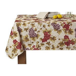 European Vineyard Tablecloth Beige 60 X 102 by Violet Linen