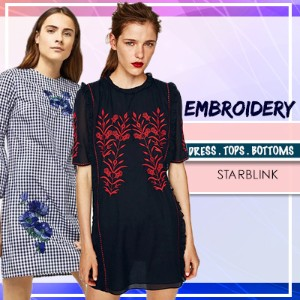 [15 Aug NEW] Embroidery Blouse Shirts Tshirt Collections