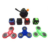 Fidget cube ストレス発散 6in1 ルービックキューブ 緊張緩和に役立つおもちゃ/手持ち無沙汰を解消する 玩具·納バック付き(大人と子供の適用)