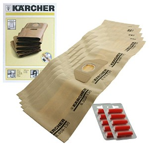 Karcher wd3.000wd3.999掃除機デュアルフィルタBags ( Pack of 5+ 5Fresheners )