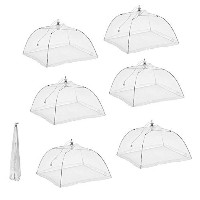 Prextex Pop Up Mesh Screen Food Cover with 4 tablecloth Clamps by Prextex