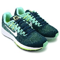 WMNS NIKE AIR ZOOM STRUCTURE 20 MIDNIGHT TURQ/WHITE-GREEN GLOW ウィメンズ ナイキ エア ズーム ストラクチャー 20