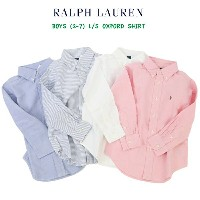 POLO by Ralph Lauren Boys(2-7) l/s B.D.Shirts Oxford ラルフローレン ボーイズ シャツ 長袖オックスフォード