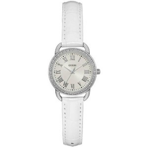 ゲス レディース 腕時計【W0959l1 Leather Strap Dress Watch】white