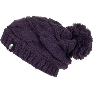 ノースフェイス レディース 帽子 アクセサリー The North Face Triple Cable Pom Beanie - Women's Dark Eggplant Purple