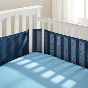BreathableBaby Breathable Mesh Crib Liner, True Navy (Discontinued by Manufacturer) by BreathableBab...