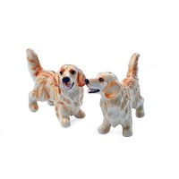 Golden Retriever MiniゴールドハンドメイドCruet Set ( 9 cm X 7 cm