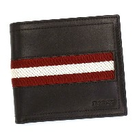バリー BALLY 二つ折り財布 小銭入 TRAINSPOTTING TYE WALLET CHOCOLATE RED/WHITE BR