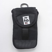 CHUMS チャムス Mobile Patched Case Sweat Nylon CH60-2364 (Black/Charcoal)