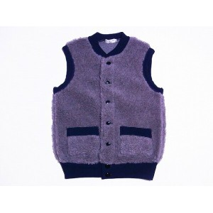 HELLER'S CAFE[ヘラーズカフェ] オールドフリース パイルベスト 1920's Utica Gray-Navy Old Fleece Pile Vest HC-146 (GRAY)...