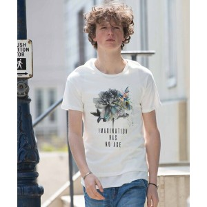 【rehacer(レアセル)】1171040113-Moment Flower Made in Japan Tシャツ