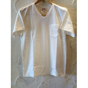 再入荷 GLAD HAND(グラッドハンド)/STANDARD V NECK T-SHIRTS WHITE