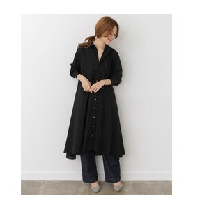 DOORS mizuiro-ind flared long shirt one-piece【アーバンリサーチ/URBAN RESEARCH レディス ワンピース black ルミネ LUMINE】