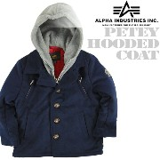 Alpha Industries Petey Hooded Coat Pコートフーディー アルファ 子供服 ミリタリー キッズ フライトジャケット YJP41220C1 ds...