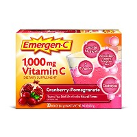 海外直送品 Alacer Emergen-C Vitamin C Drink Mix Packets Cranberry Pomegranate, Cranberry Pomegranate 30...