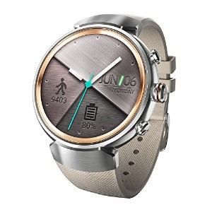 ASUS ZenWatch 3 WI503Q (シルバー/ベージュ)【日本正規代理店品】(512MB / 4GB / 1.2GHz / 340mAh / IP67) WI503Q-RGR04/A