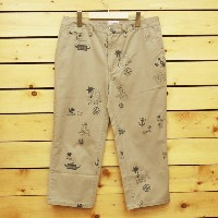 ☆MAGIC NUMBER【マジックナンバー】パンツ『Hand Drawing Allover print Cropped Pants 』13HS-3039 カラー:BEIGE