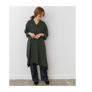 DOORS mizuiro-ind front pockets wide one-piece【アーバンリサーチ/URBAN RESEARCH レディス ワンピース green ルミネ LUMINE】