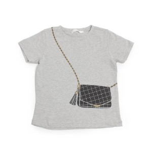 【THE SHOP TK(Kids) (ザ ショップ ティーケー(キッズ))】チェーンバッグトリックプリントTシャツキッズ トップス|カットソー・Tシャツ オフホワイト
