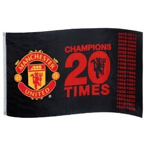 "【SALE30%OFF】マンチェスターユナイテッド 12-13シーズン優勝記念フラッグ ""CHAMPIONS 20 TIMES"" 【Manchester United/12-13/サッカー..."