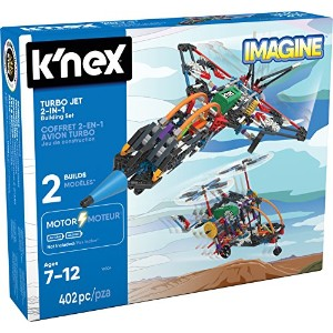【K'NEX - Turbo Jet - 2-in-1 Building Set - 402 Pieces - Ages 7+ - Engineering Educational Toy】...