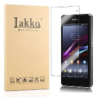 Lakko Sony Xperia Z1f / A2 / J1 Compact 液晶保護ガラスフィルム 9H 飛散防止 4.3インチ 日本板硝子社国産ガラス採用