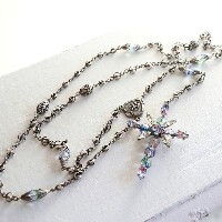Michel's Vintage Beads Neckrace Rosary Clossヴィンテージビーズネックレス・ロザリオ・クロスペンダント