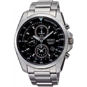 セイコー メンズ 腕時計 Seiko Chronograph Black Dial Mens Watch SNDD61