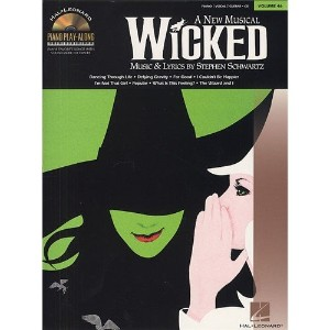 Piano Play-Along Volume 46: Wicked. Partitions, CD pour Piano, Chant et Guitare