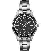 Timex タイメックス レディース 腕時計 Women's T2P019KW Ameritus Sport Black Dial, Stainless Steel Bracelet Watch