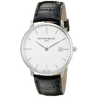 フレデリックコンスタント Frederique Constant Men's FC220S5S6 Slim Line Analog Display Swiss Quartz Black Watch ...