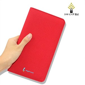 L-Hydrone パスポートケース スキミング防止 海外旅行用品カードケース 便利グッズ (PU-Red)