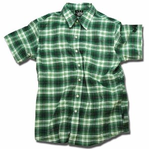 Check Shirts グリーン one by one clothing
