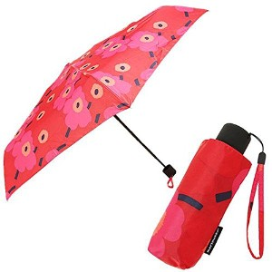 (マリメッコ) MARIMEKKO マリメッコ 傘 MARIMEKKO 038653 301 MINI-UNIKKO MINI MANUAL UMBRELLA 折りたたみ傘 RED/DARK RED...