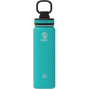 Takeya ThermoFlask Insulated Stainless Steel Water Bottle, 14 oz, Ocean by Takeya
