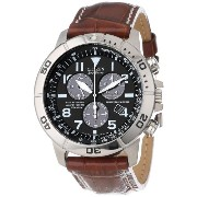 """Citizen Men's シチズン メンズ 腕時計 BL5250-02L """"Eco-Drive"""" Leather and Titanium Watch"""