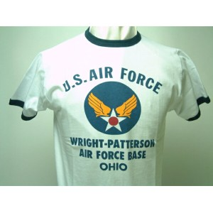 "Buzz Rickson's (バズリクソンズ)"" U.S. AIR FORCE ""WRIGHT-PATTERSON A.F. BASE S/S リンガーT-SHIRT"