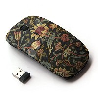 KOOLmouse [ ワイヤレスマウス 2.4Ghz無線光学式マウス ] [ Sunflower Rustic Wallpaper Floral ]