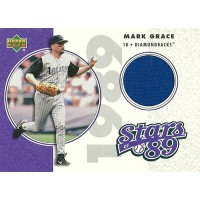 マーク・グレース MLBカード Mark Grace 2002 UD Authentics Stars of 89 Jerseys