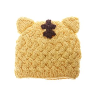 【SALE 10%OFF】コムサイズム COMME CA ISM 手編み動物耳付ニットキャップ (イエロー)