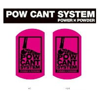 『POW CANT SYSTEM/パウカント システム』【CANT PLATE/カントプレート】カラー:PINK/BLACK★メール便配送致します※代引き・宅急便選択の方は通常配送料となります。
