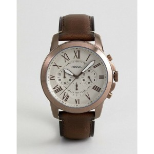 フォッシル メンズ 腕時計 アクセサリー Fossil FS5344 Grant Chronograph Leather Watch In Tan Tan
