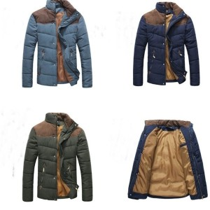 2016 Men s Colorant Match Brief Thermal Wadded Jacket Thickening Cotton padded Jacket Winter Slim...