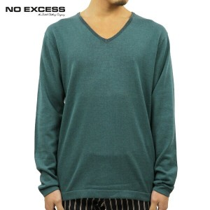 【25%OFFセール 4/25 12:00〜5/1 9:59】 ノーエクセス NO EXCESS 正規販売店 メンズ Vネックセーター V NECK SWEATER 230869 150 GREEN