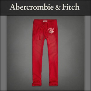 【20%OFFセール 7/08 20:00〜7/13 1:59】 アバクロ Abercrombie&Fitch 正規品 メンズ スウェットパンツ A&F Classic Sweatpants RED
