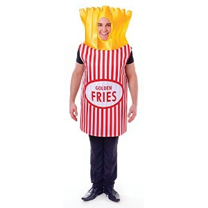 """French Fries. (Adult Costumes) Male Chest Size 44"""""""" - Yellow/Red"""