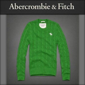 【20%OFFセール 5/20 20:00〜5/25 1:59】 アバクロ Abercrombie&Fitch 正規品 メンズ セーター Phelps Trail Sweater GREEN